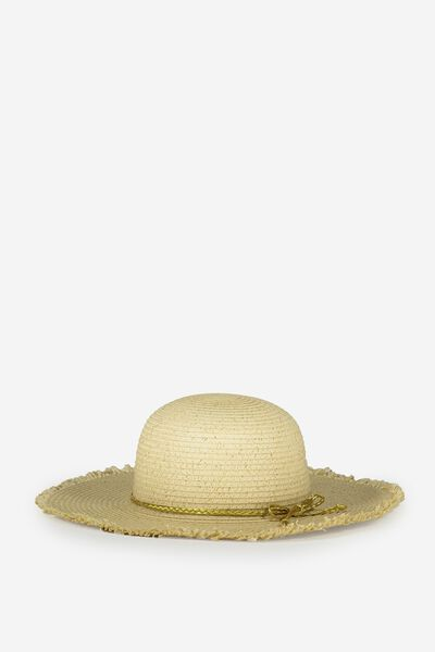 Floppy Hat, NATURAL/GOLD