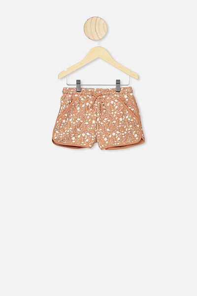 Nina Knit Short, AMBER BROWN/SPRIGGY FLORAL