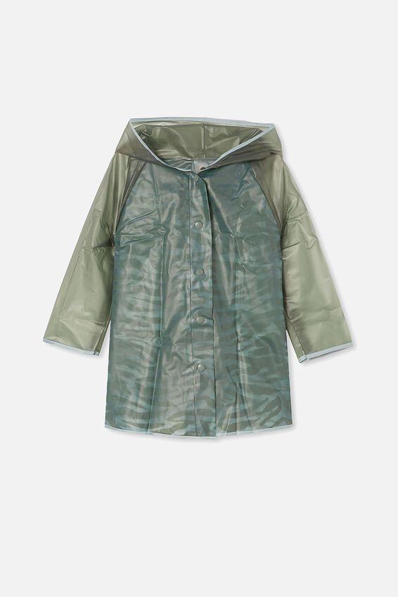 Cloudburst Raincoat, SWAG GREEN ZEBRA