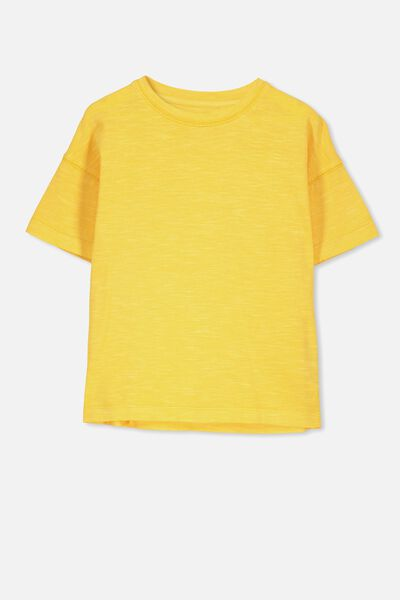 Penelope Ss Loose Fit Tee, SUNSET GOLD