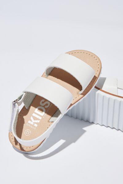 Amber Sling Back Sandal, WHITE