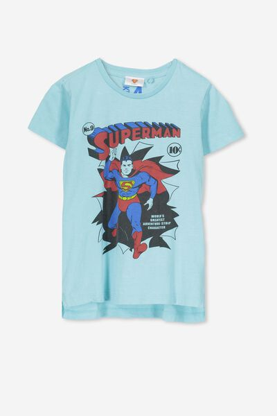 Short Sleeve License Tee, SEA TINT WASH/SUPERMAN