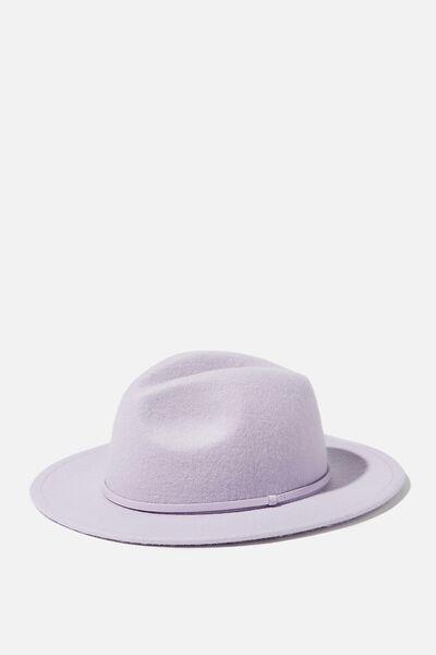 Wide Brim Hat, VINTAGE LILAC