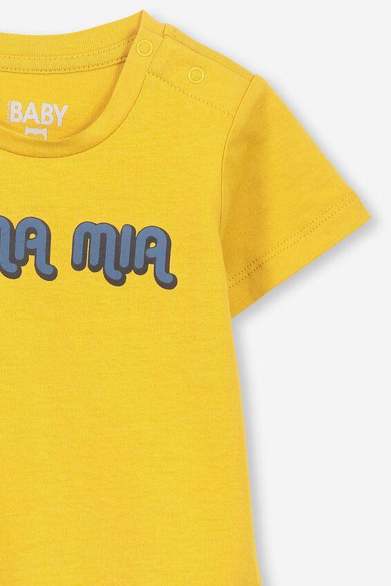 Jamie Short Sleeve Tee, GOLD GLOW/MAMA MIA
