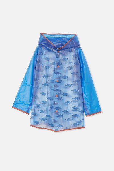 Cloudburst Raincoat, DUSK BLUE DINO
