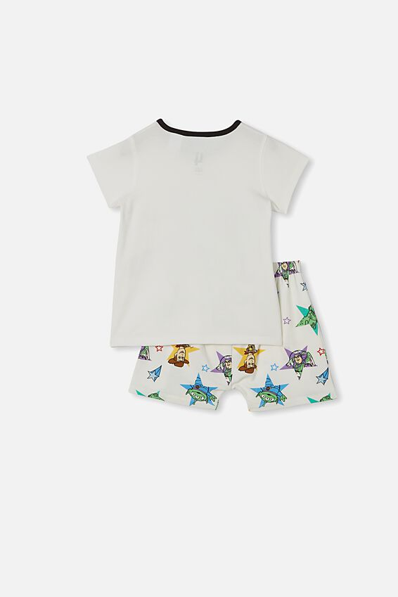 Hudson Short Sleeve Pyjama Set, LCN DIS BUZZ LIGHTYEAR VANILLA