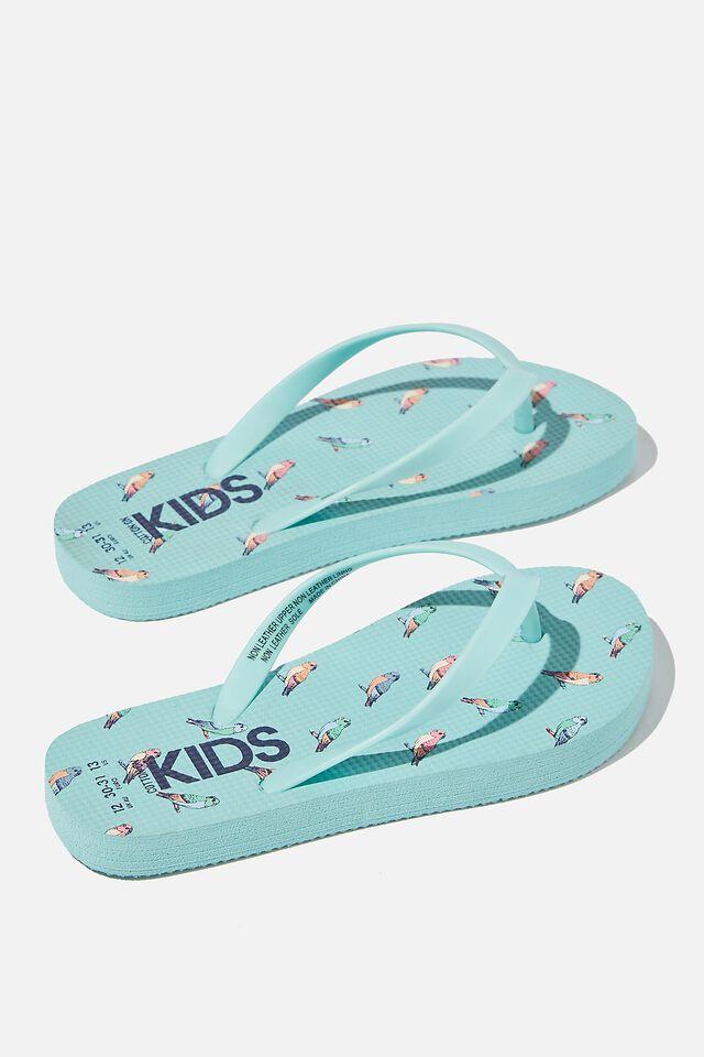 Printed Flip Flops, BREAM BLUE BUDGIE