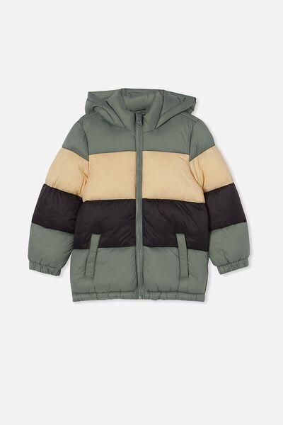 Frankie Puffer Jacket, SWAG GREEN/SEMOLINA/BLACK