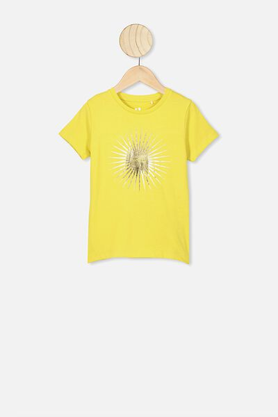 Penelope Short Sleeve Tee, SUNSHINE/SHINE ON