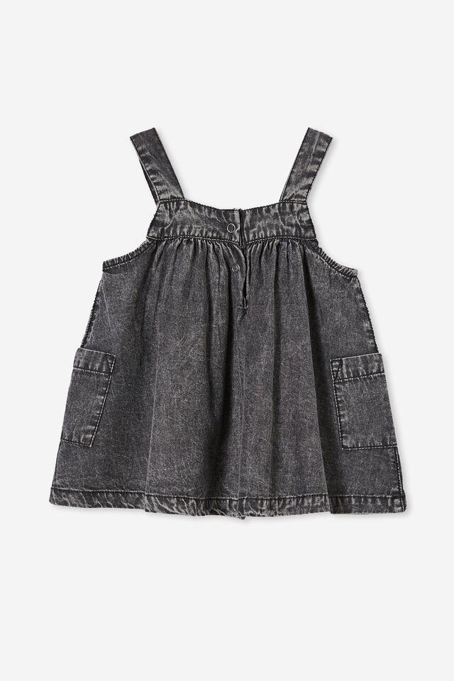 Penny Pinafore Dress, OCEAN GREY WASH
