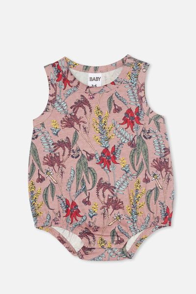 Lena Singlet Bubbysuit, DUSTY BERRY/SHARON FLORAL