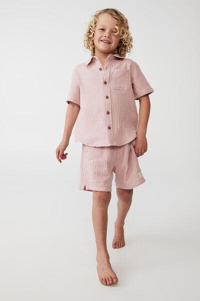 Resort Short Sleeve Shirt, ZEPHYR/CHEESECLOTH