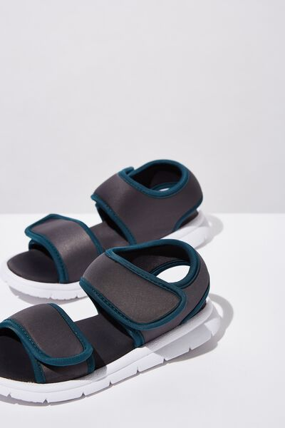 Louis Sports Sandal, GRAPHITE/SCOUT GREEN