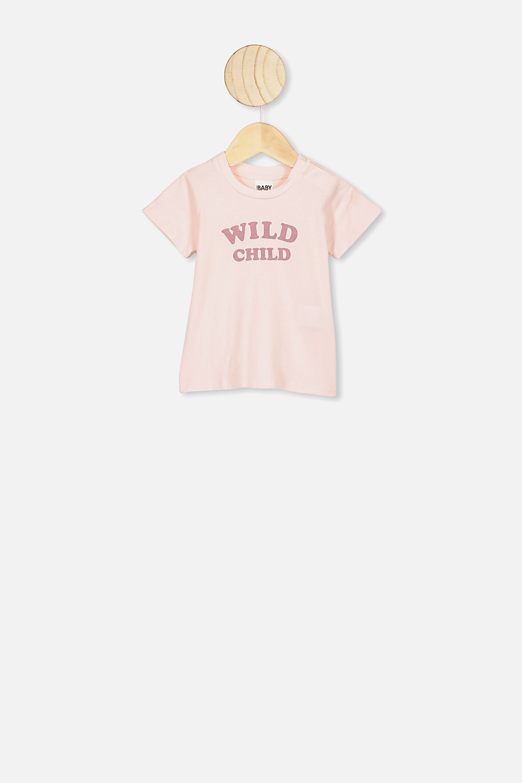 Pink Dog Toddler Short-Sleeve Tee for Boy Girl Infant Kids T-Shirt On Newborn 6-18 Months