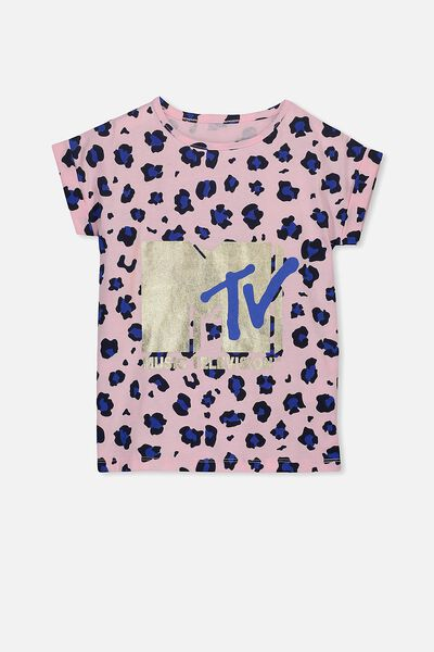 Lux Short Sleeve Retro Tee, MTV/ANIMAL FLORAL