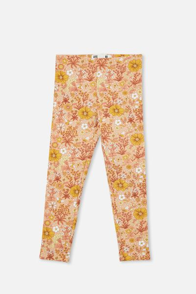 Fleece Legging, PEACHY/BEE GARDEN