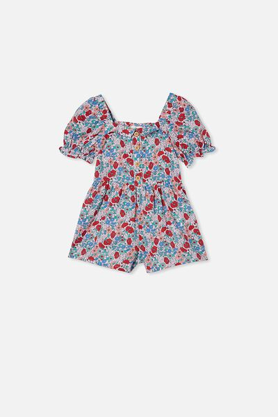Katie Playsuit, PINK QUARTZ/JOLLY FLORAL