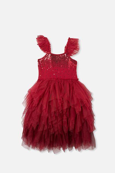 Iris Dress Up Dress, BERRY/GRADIENT SPARKLE