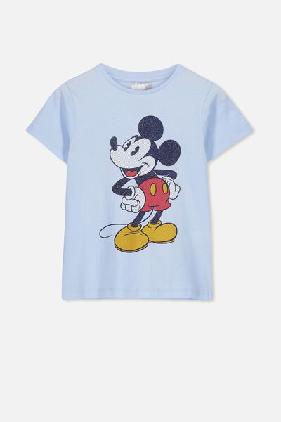 Lux Short Sleeve Tee, LCN DIS ARCTIC BLUE/VINTAGE MICKEY/MAX