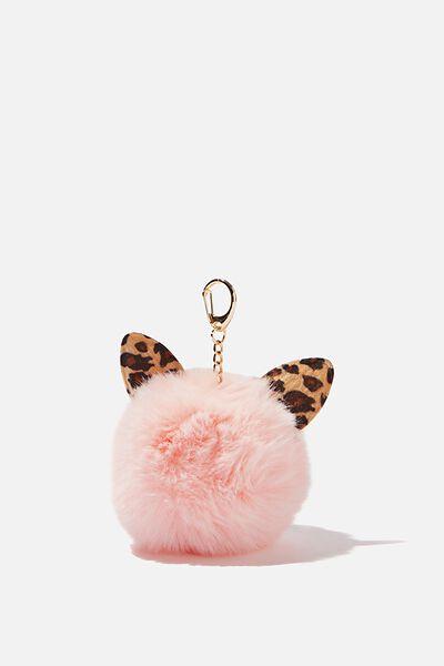 Kids Pom Pom Bag Charm, CAT EAR POM POM