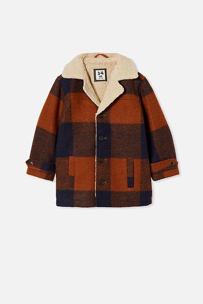 Ranch Jacket, AMBER BROWN/NAVY CHECK