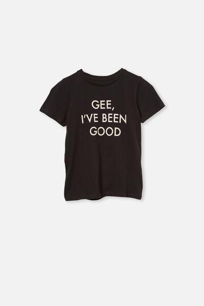 Penelope Short Sleeve Tee, PHANTOM/GEE, I'VE BEEN GOOD