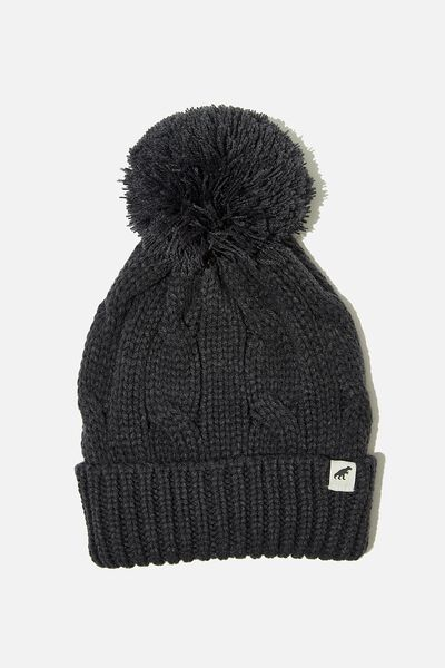 Winter Knit Beanie, VINTAGE NAVY CABLE