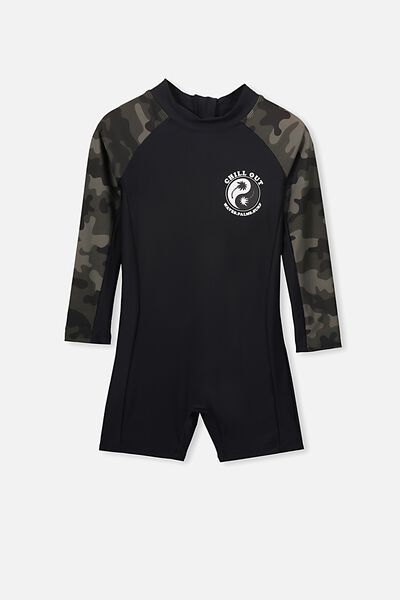Oscar Ls All In One Swimsuit, CAMO/PHANTOM