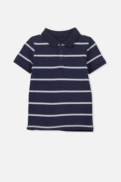 Kenny3 Polo, WASHED NAVY/STRIPE