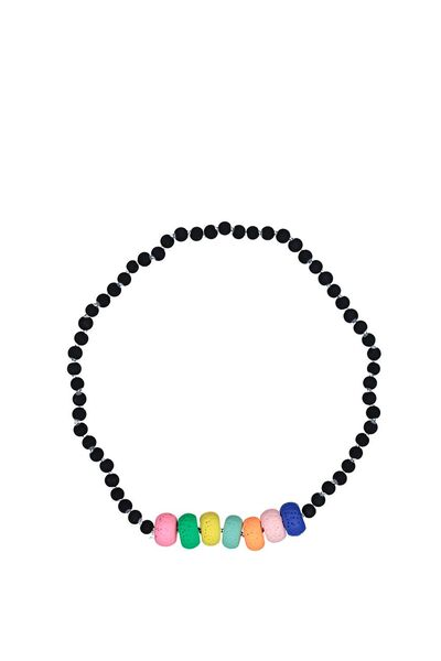 Mixed Beaded Necklace, MULTI