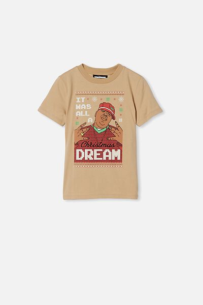 Co-Lab Short Sleeve Tee, LCN MT SEMOLINA/ CHRISTMAS BIGGIE