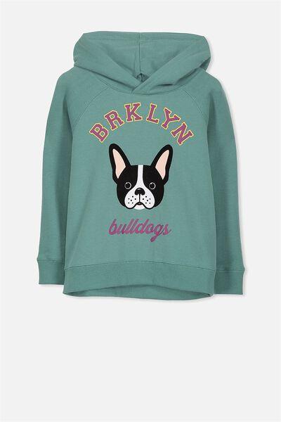 Scarlett Hoodie, BERYL GREEN BULL DOG/RAGLAN SLEEVE