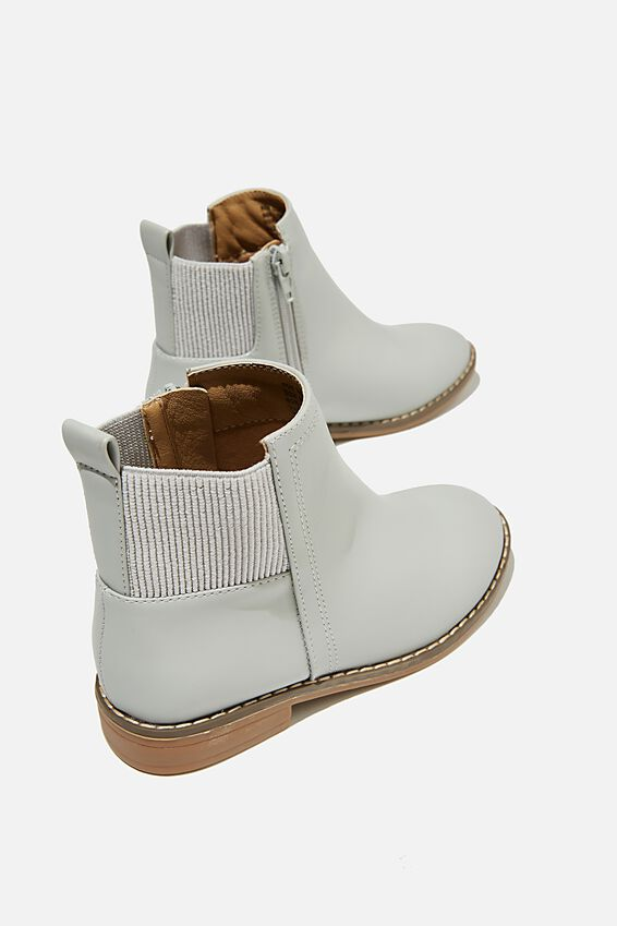 Step Gusset Boot, WINTER GREY
