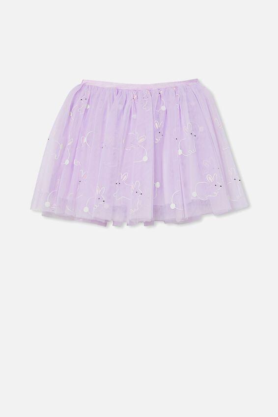 Trixiebelle Dress Up Skirt, LILAC/BUNNIES
