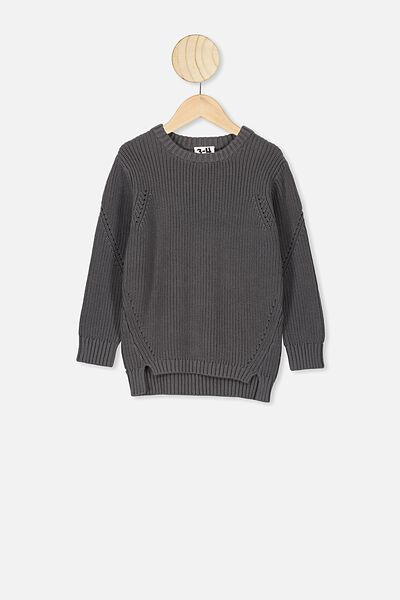 Blair Knit Crew, RABBIT GREY