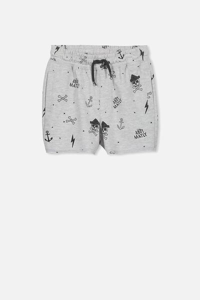 Henry Slouch Short, LIGHT GREY MARLE/PIRATES