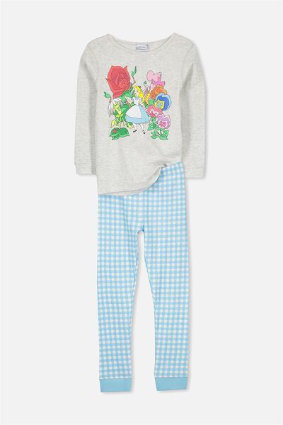 Alicia Long Sleeve Girls Pj Set, ALICE IN WONDERLAND GARDEN