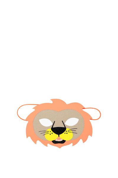 Glitzy Fun Mask, LION MULTI