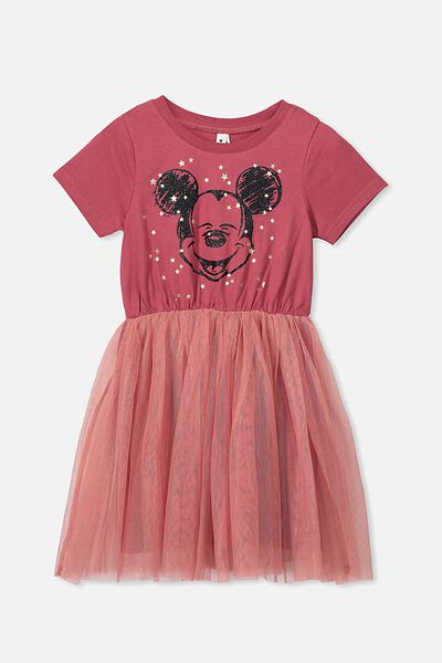 Vivienne Dress Up Dress, LCN DIS/EARTH RED/MICKEY