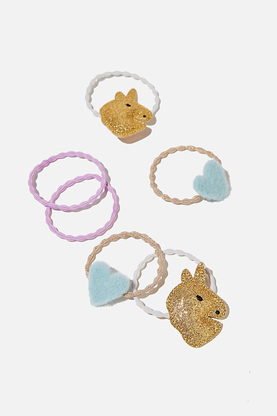 Hannah Hair Ties, UNICORN AND HEART