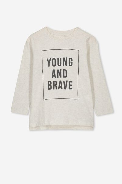 Tom Long Sleeve Tee, OATMEAL NEP YOUNG BRAVE/SIS