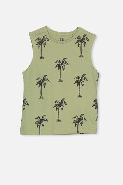 Otis Muscle Tank, VINTAGE KHAKI/PALM TREES
