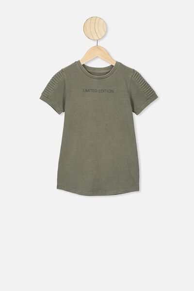 The Cruz Short Sleeve Long Line Tee, SILVER SAGE/LIMITED EDITION
