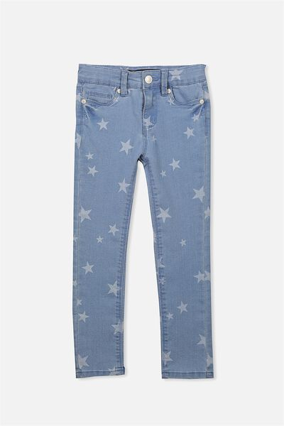Juno Stretch Jean, LIGHT BLUE WASH/STAR