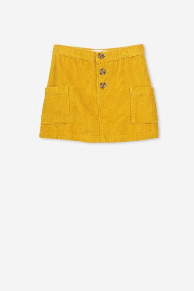 Rose Cord Skirt, GOLD GLOW