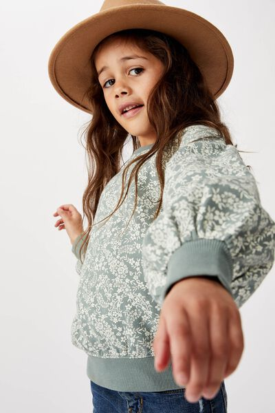 Sophie Slouch Crew, STORMY SEA/PAISLEY FLORAL