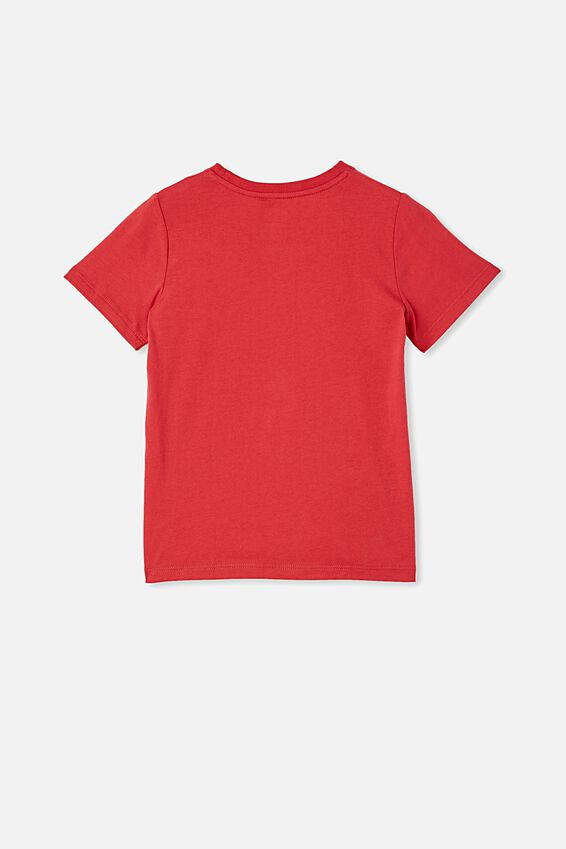 Penelope Short Sleeve Tee, LUCKY RED/KOI FISH