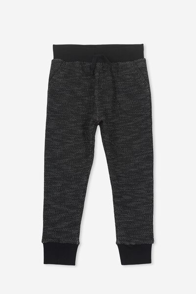 Kendra Premium Trackpant, CHARCOAL TEXTURED MARLE