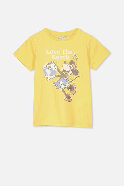 Lux Short Sleeve Tee, LCN DIS CORN SILK/MINNIE LOVE THE EARTH/MAX