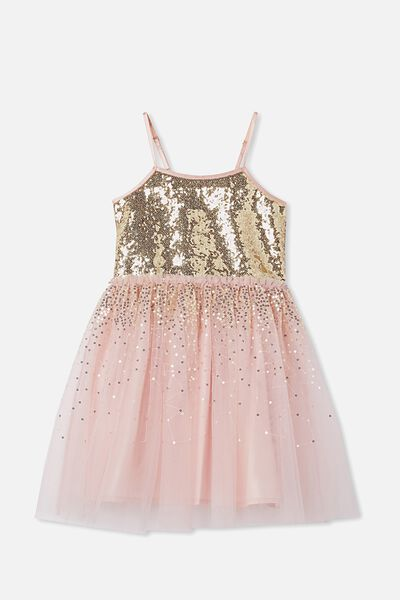 Iris Dress Up Dress, DUSTY PINK/GOLD GRADIENT